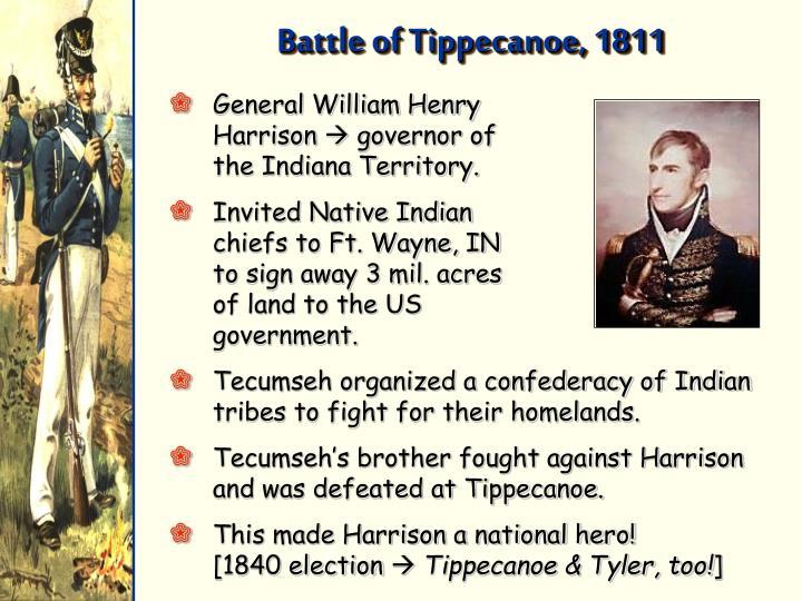 Battle of Tippecanoe, 1811