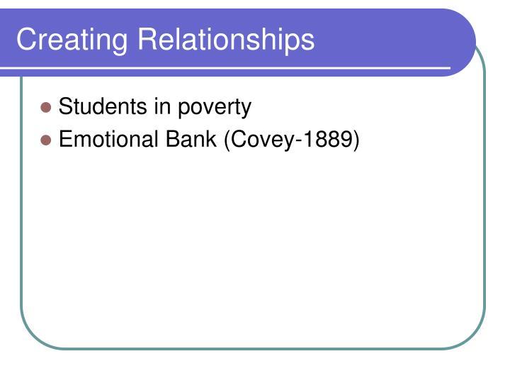Creating Relationships