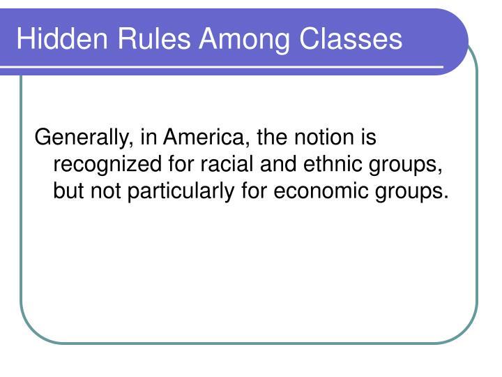 Hidden Rules Among Classes
