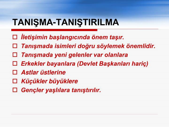TANIMA-TANITIRILMA