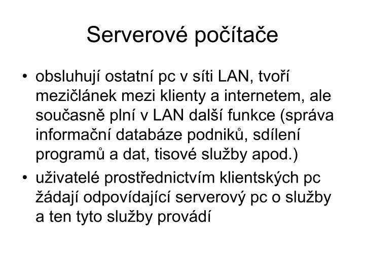Serverové počítače