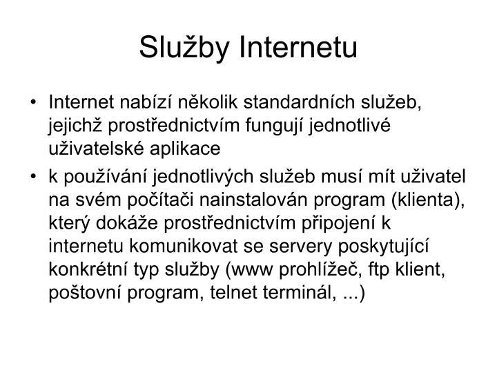 Služby Internetu