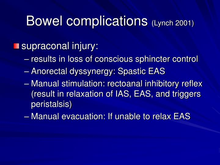 Bowel complications