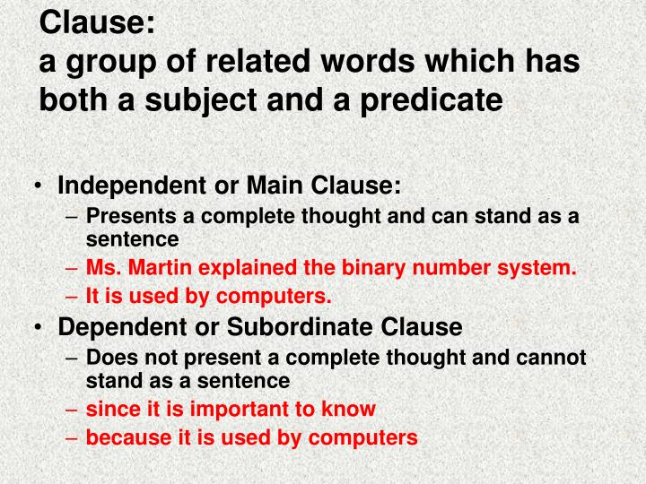 Clause:
