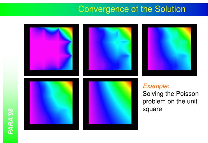 Convergence of the Solution