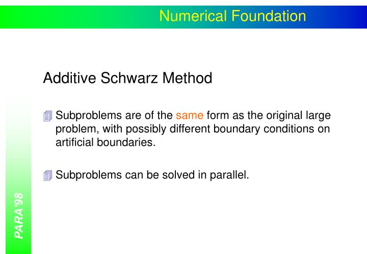 Numerical Foundation