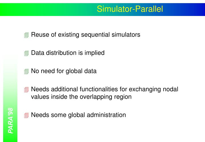 Simulator-Parallel