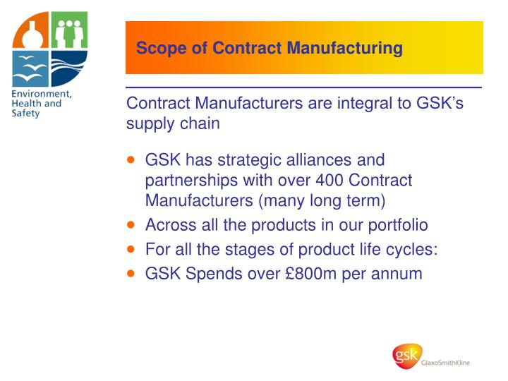 Scope of Contract Manufacturing