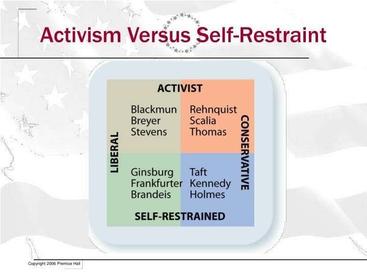 Activism Versus Self-Restraint