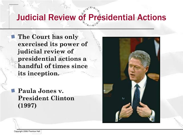 Judicial Review of Presidential Actions