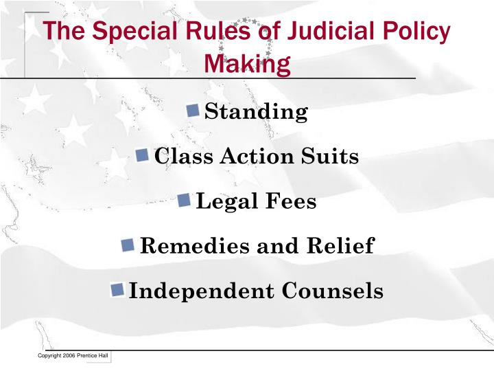 The Special Rules of Judicial Policy Making