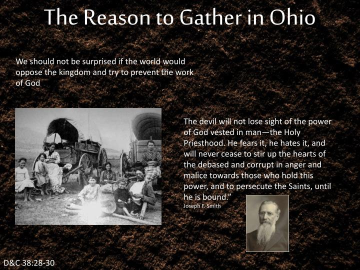 The Reason to Gather in Ohio