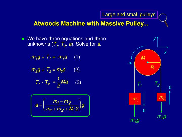 Large and small pulleys