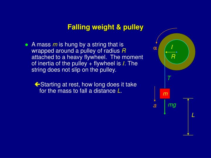 Falling weight & pulley