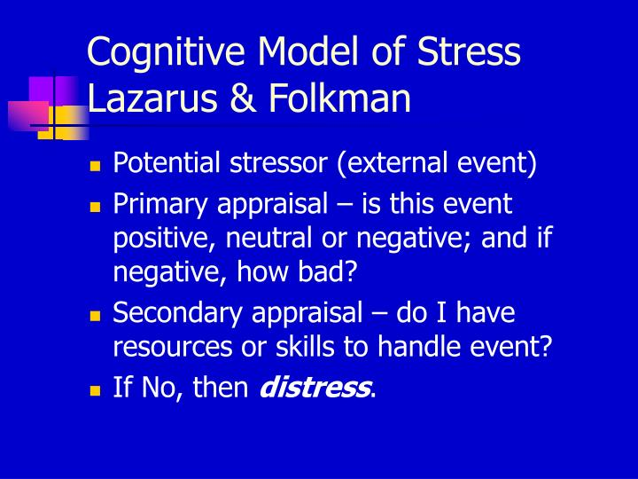 Cognitive Model of Stress