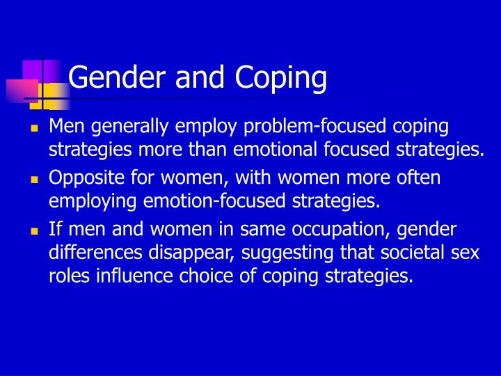 Gender and Coping