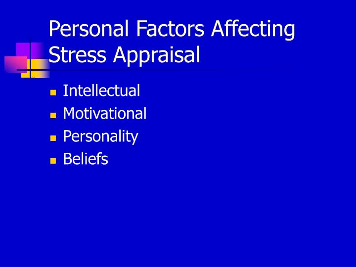 Personal Factors Affecting Stress Appraisal
