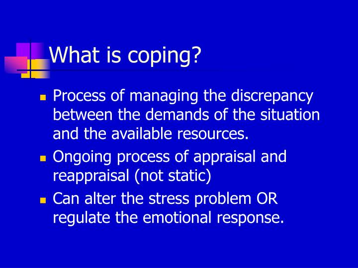 What is coping?