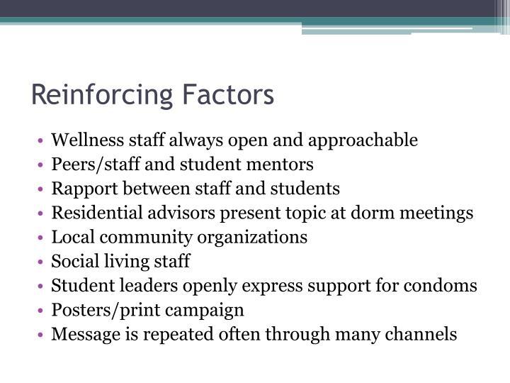 Reinforcing Factors