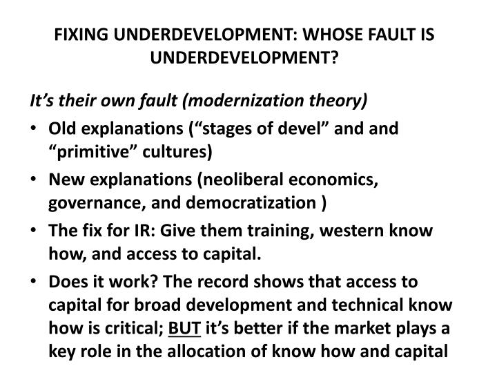 what is underdevelopment means