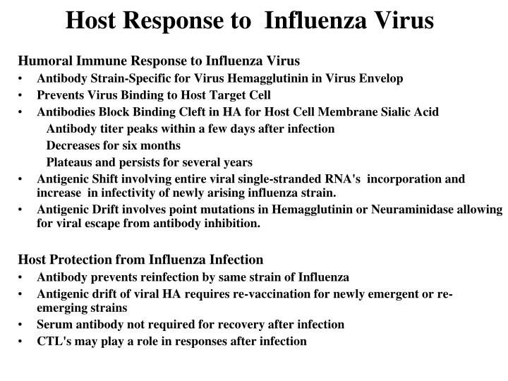 Host Response to  Influenza Virus