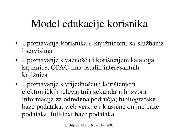 Model edukacije korisnika