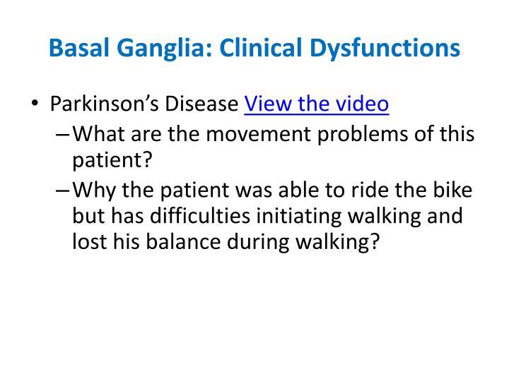 Basal Ganglia: Clinical
