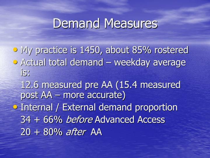 Demand Measures