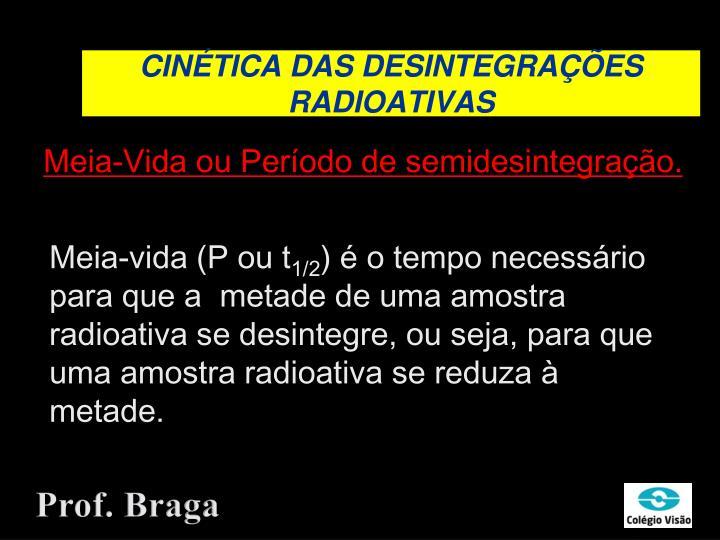 CINÉTICA DAS DESINTEGRAÇÕES RADIOATIVAS