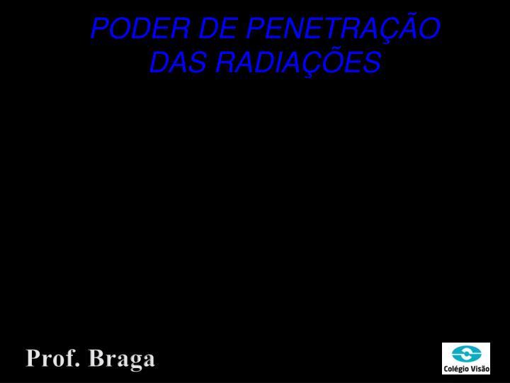 PODER DE PENETRAÇÃO DAS RADIAÇÕES
