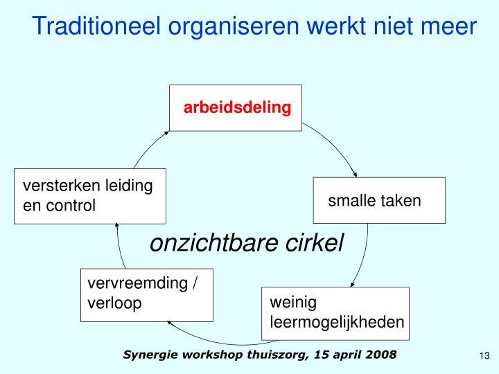 Traditioneel organiseren werkt niet meer