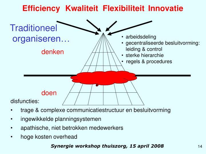 Efficiency  Kwaliteit  Flexibiliteit Innovatie