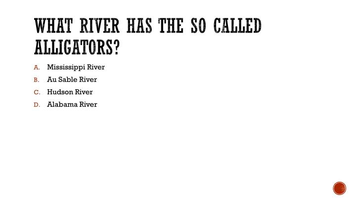 What river has the so called alligators?