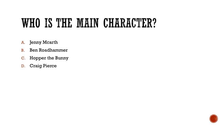 Who is the main character?