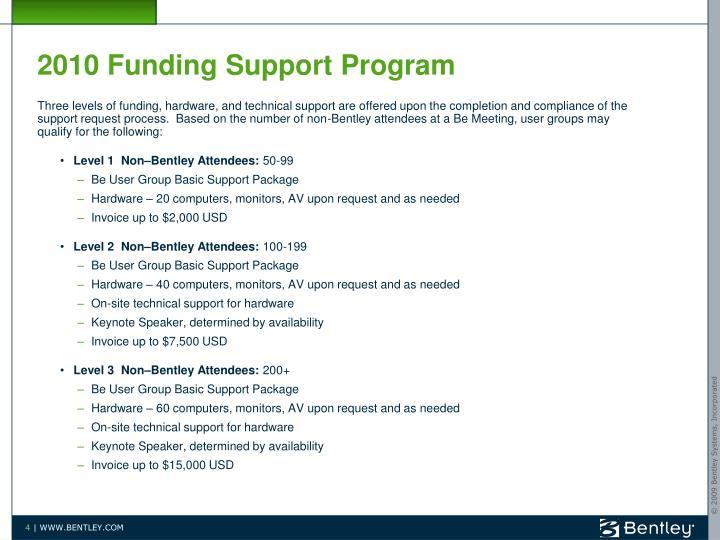 2010 Funding Support Program