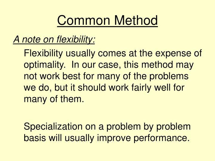 Common Method