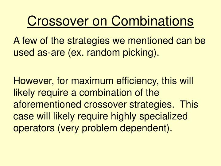 Crossover on Combinations