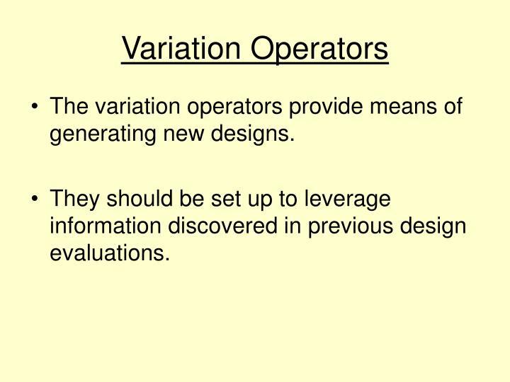 Variation Operators