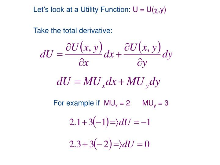 Let's look at a Utility Function: