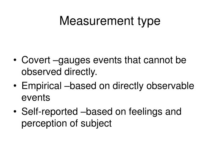 Measurement type