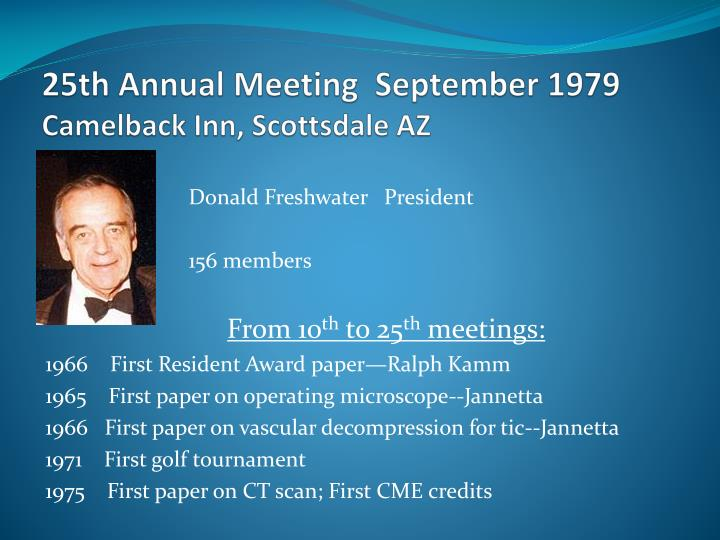 25th Annual Meeting  September 1979