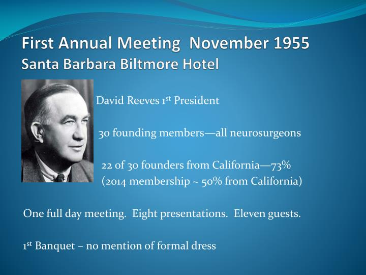 First Annual Meeting  November 1955