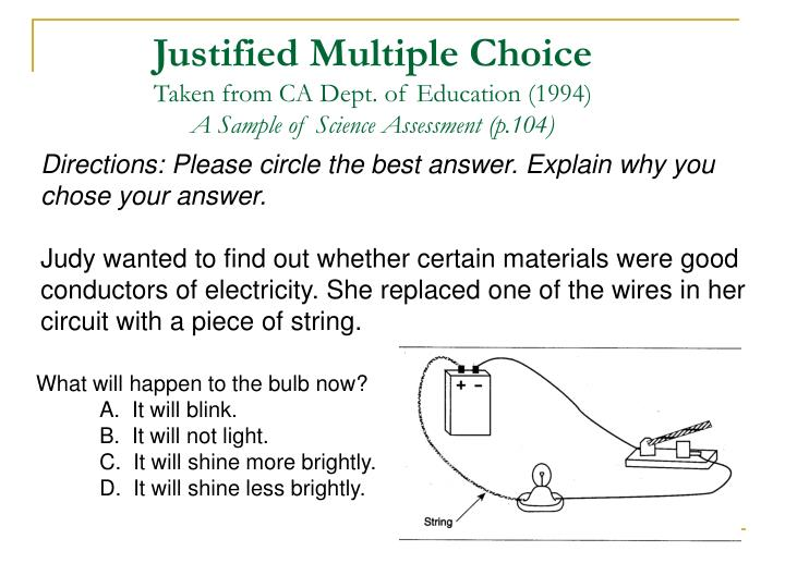 Justified Multiple Choice