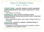 types of multiple choice wiggins mctighe1