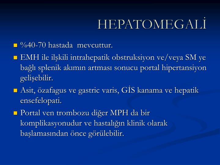 HEPATOMEGALİ