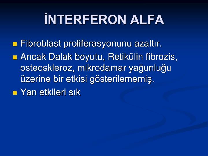 İNTERFERON ALFA