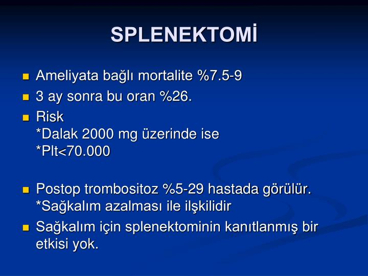 SPLENEKTOMİ
