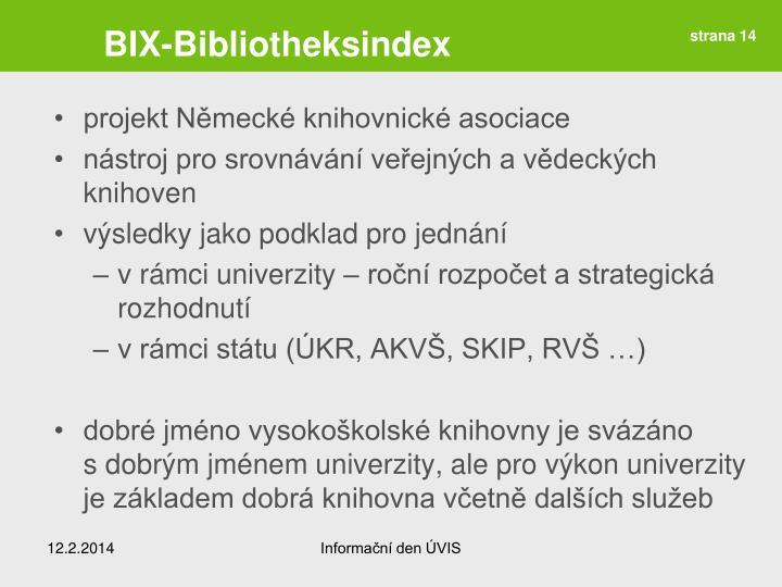 BIX-Bibliotheksindex