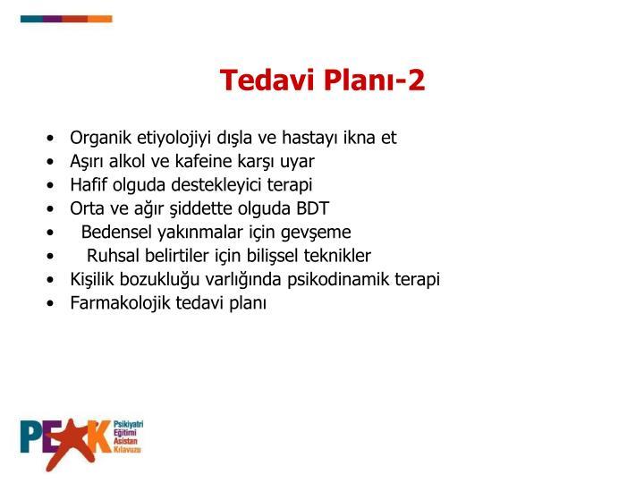 Tedavi Planı-2