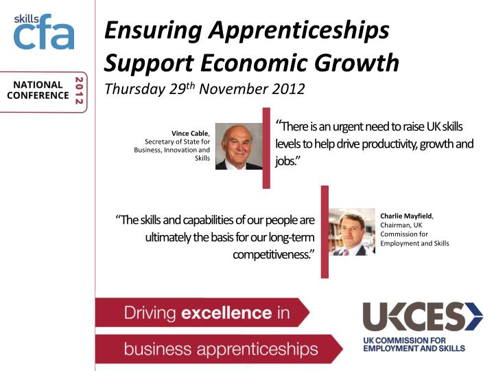 Ensuring Apprenticeships Support Economic Growth